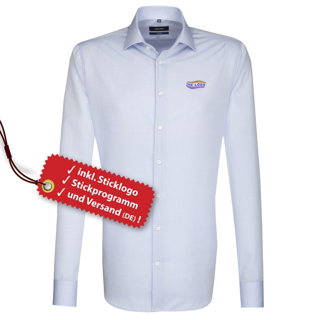 Tailored Hemd ELA inkl. Logo bestickt Seidensticker® | bedrucken, besticken, bedrucken lassen, besticken lassen, mit Logo |
