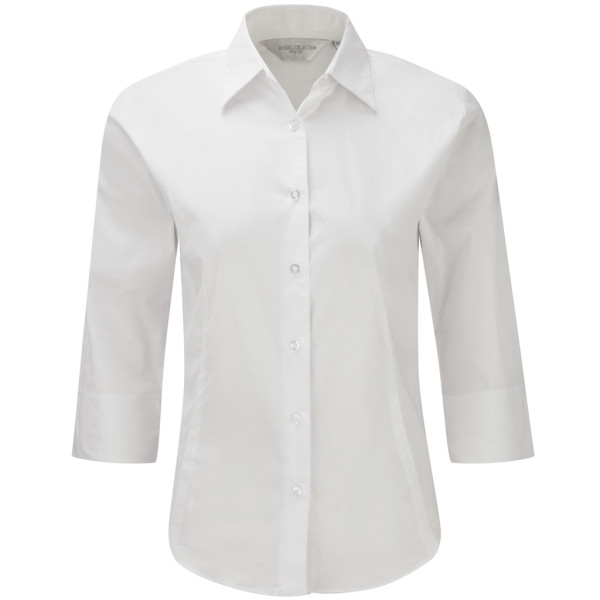 Stretch Bluse mit 3/4 Ärmeln Slim Fit Russell®