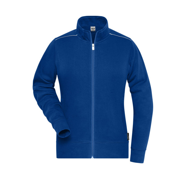 Ladies Workwear Sweat Jacket Solid James & Nicholson®