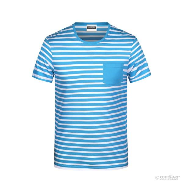 Men's Striped T-Shirt Organic Cotton James & Nicholson®