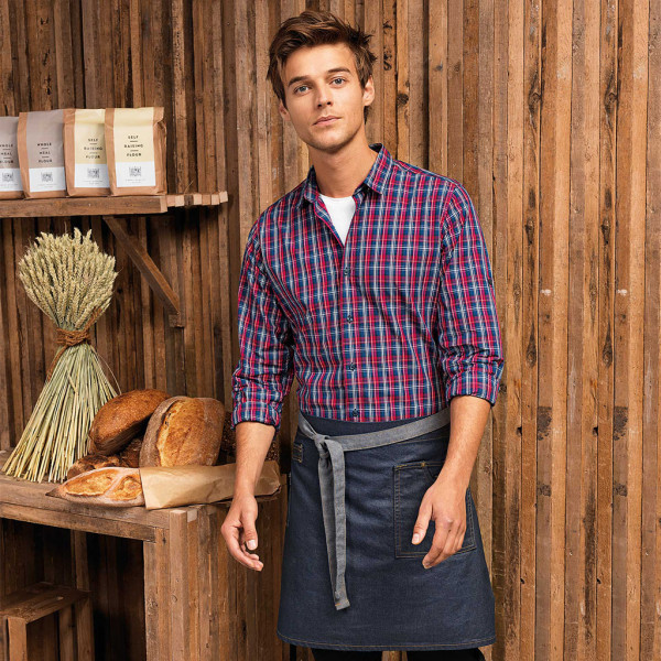Bistro apron denim with wax coated optics Premier®