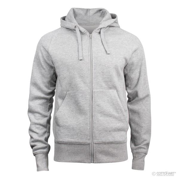 Unisex hooded sweatshirt with zip Harper Clique®