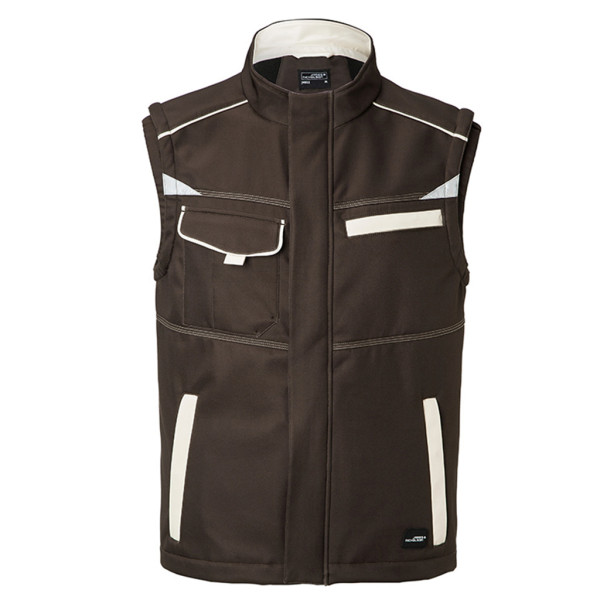 Softshell Workwear Weste James & Nicholson®
