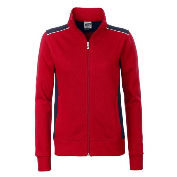 Damen Workwear Sweat Jacket James & Nicholson®