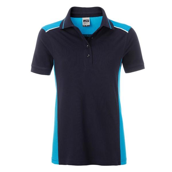 Damen Workwear Polo Kontrast James & Nicholson®