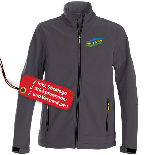 Ladies Softshell Jacket embroidery incl. logo embroidery
