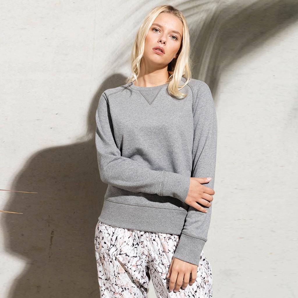 Damen Sweatshirt aus Bio-Baumwolle | bedrucken, besticken, bedrucken lassen, besticken lassen, mit Logo |