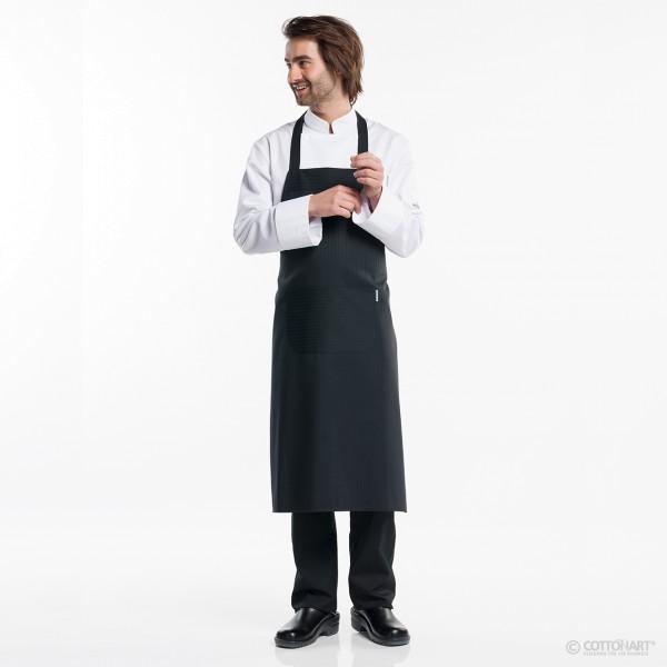 Latzschürze Regular mit Tasche Santino Black Chaud Devant®