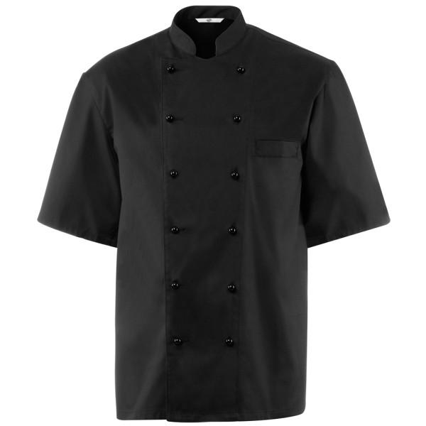Basic short sleeve chef's jacket blended fabric Greiff®