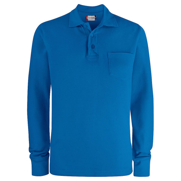 Basic polo shirt long sleeve with Clique® breast pocket