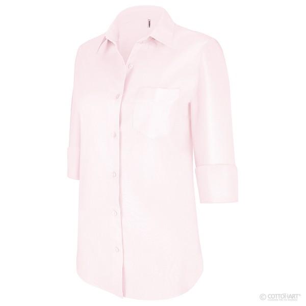 Damen Workwear-Bluse Dreiviertelarm Kariban®