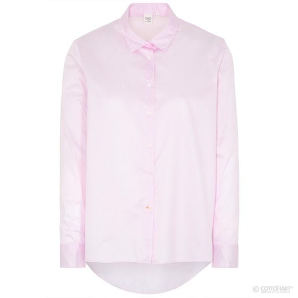 Bluse Premium Twill Hemd-Kragen Langarm Eterna®