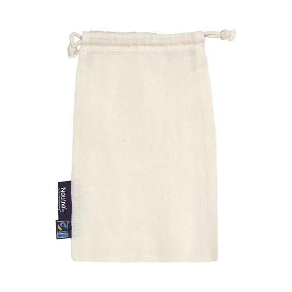 Organic Fairtrade Cotton Bag with Drawstrings Neutral®