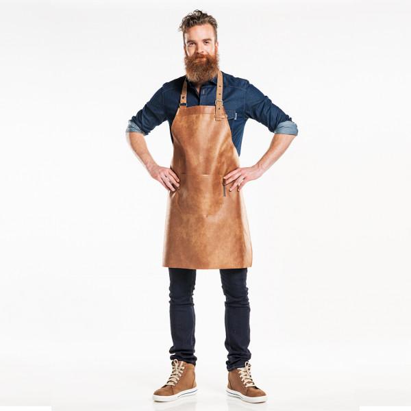 Leather dungaree apron Regular Chaud Devant®