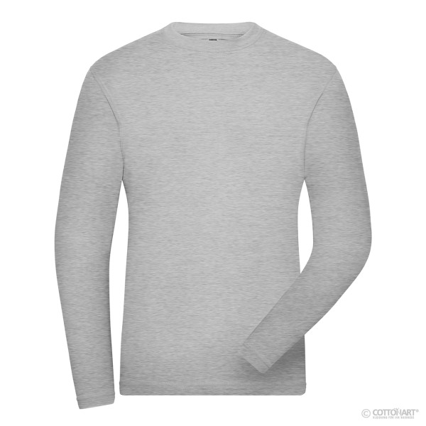 Men's Stretch T-Shirt Long Sleeve Organic Cotton James & Nicholson®.