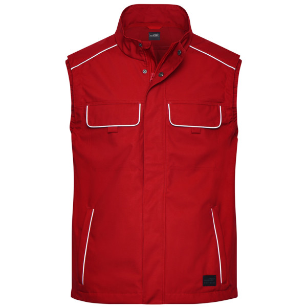 Light workwear soft shell vest Solid James & Nicholson®