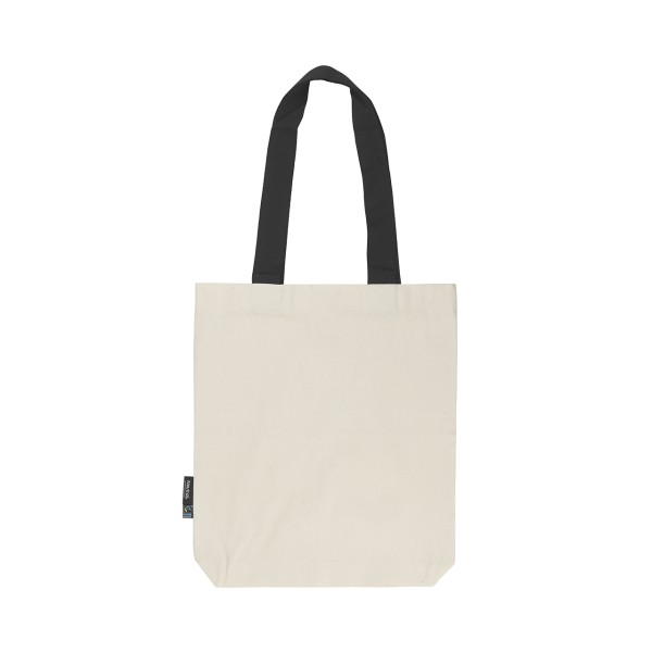 Organic Fairtrade Twill Bag Contrast Hadles Neutral®
