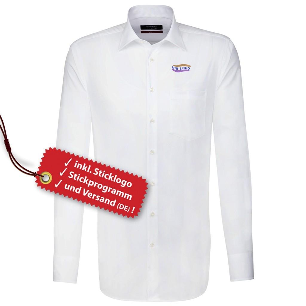 Modern Hemd ELA inkl. Logo bestickt Seidensticker®   bedrucken, besticken, bedrucken lassen, besticken lassen, mit Logo  