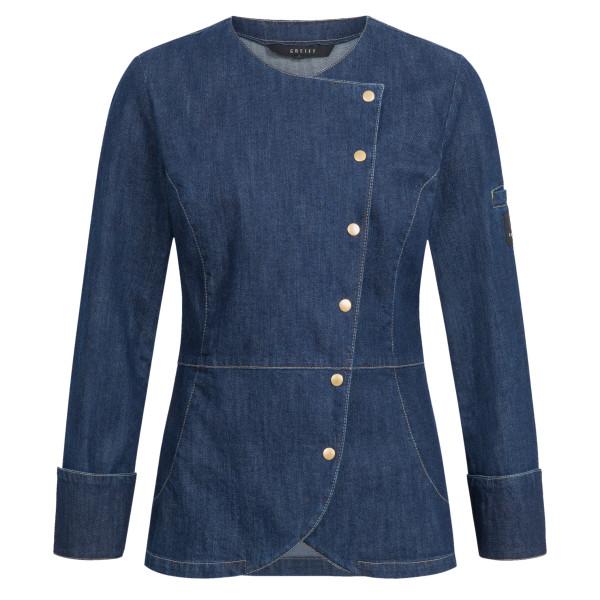 Ladies Denim Cooking Jacket RF Cuisine Premium Asymmetrical Greiff®
