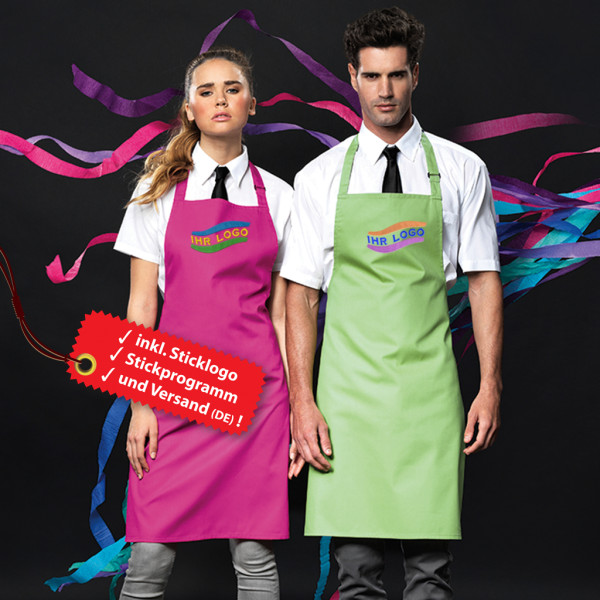 Embroidered cooking apron incl. logo embroidery
