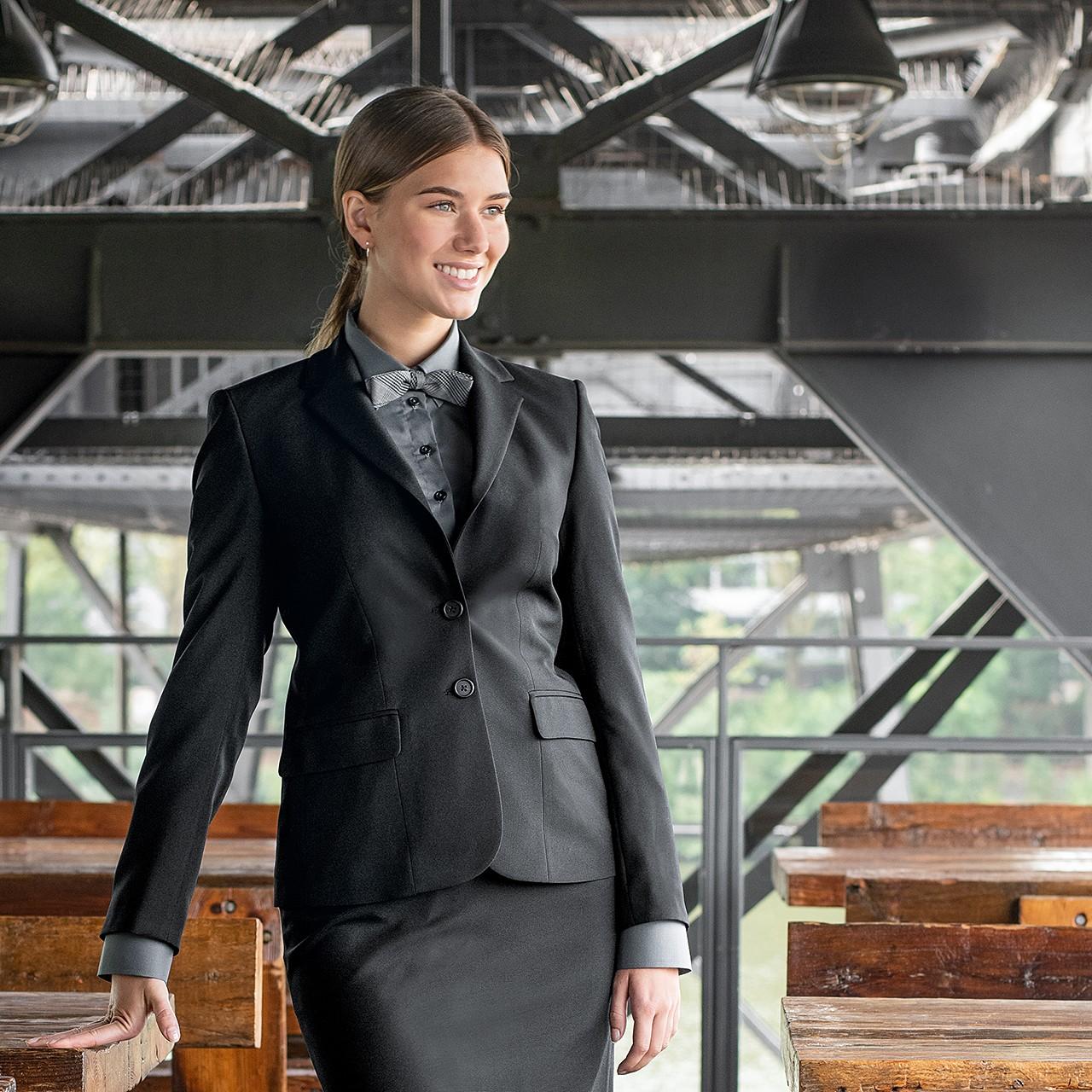 Damen Service Blazer Casual Regular Fit Greiff® | bedrucken, besticken, bedrucken lassen, besticken lassen, mit Logo |
