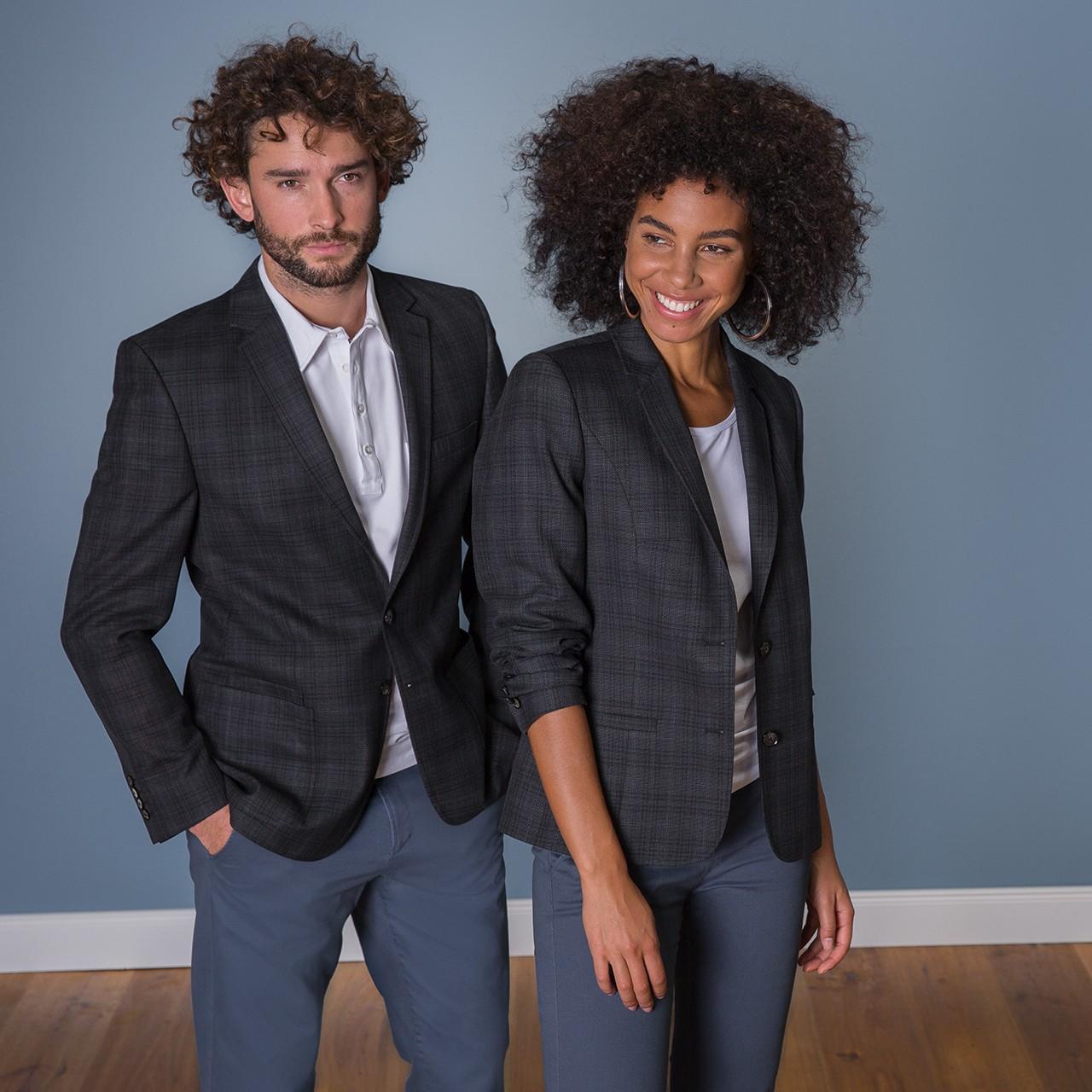 Damen-Blazer RF Casual Kariert Greiff® | bedrucken, besticken, bedrucken lassen, besticken lassen, mit Logo |