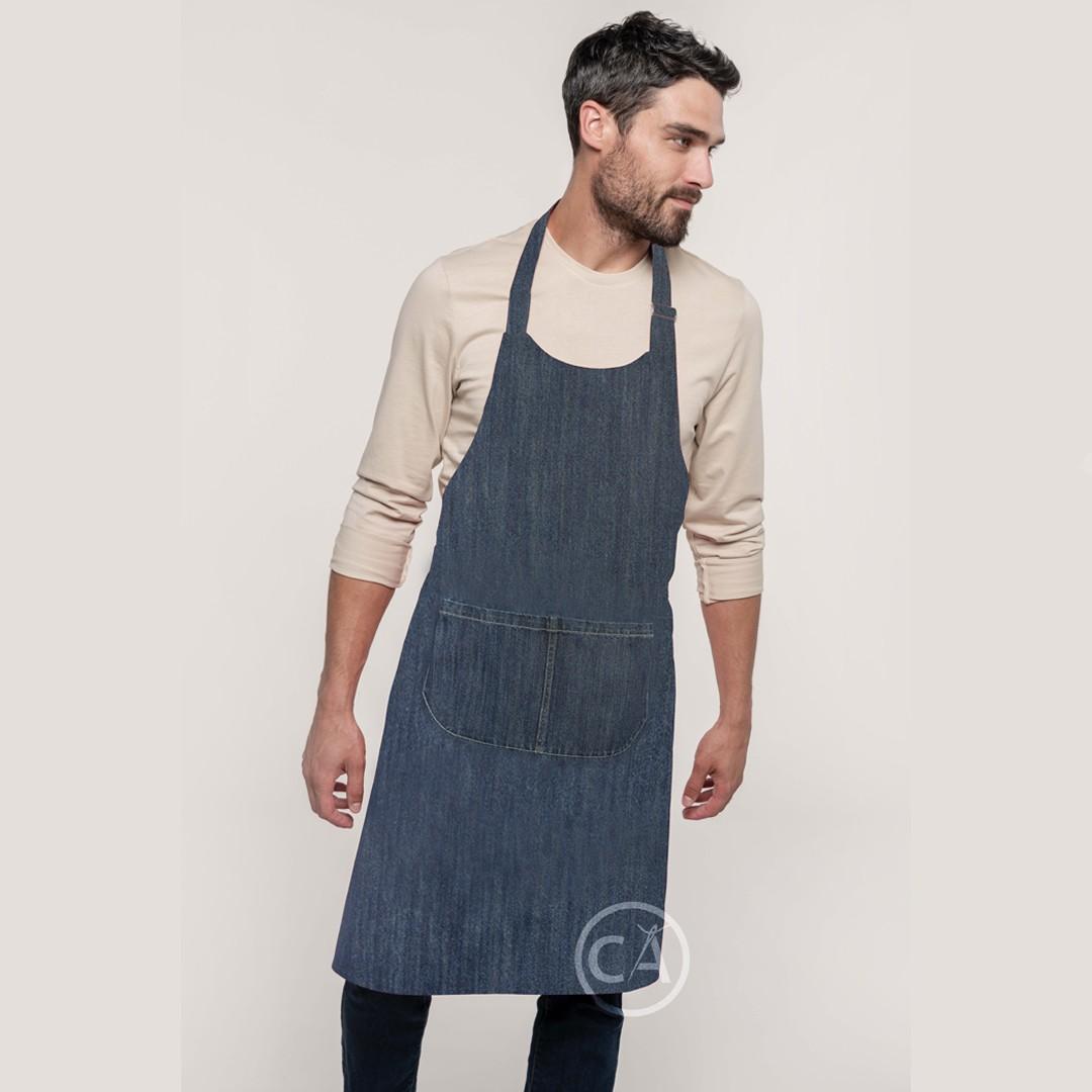 Jeans Latzschürze Denim | bedrucken, besticken, bedrucken lassen, besticken lassen, mit Logo |