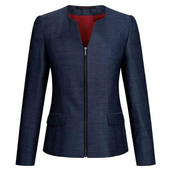 Ladies Casual Blazer Blue Structured Regular Fit Greiff®