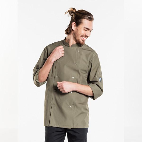 Cooking jacket Hilton Poco Dark Olive Chaud Devant®