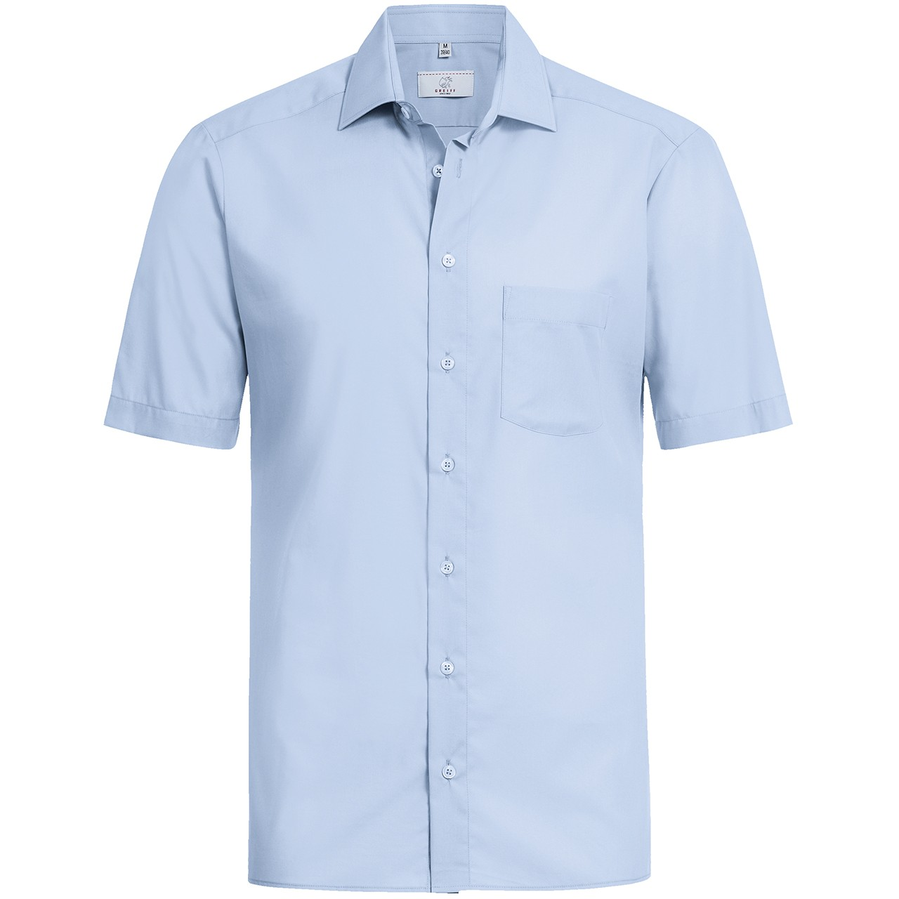 Basic Hemd Kurzarm Regular Fit Greiff®   bedrucken, besticken, bedrucken lassen, besticken lassen, mit Logo  