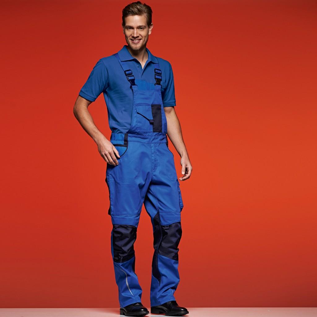 Workwear Latzhose Cordura James & Nicholson® | bedrucken, besticken, bedrucken lassen, besticken lassen, mit Logo |