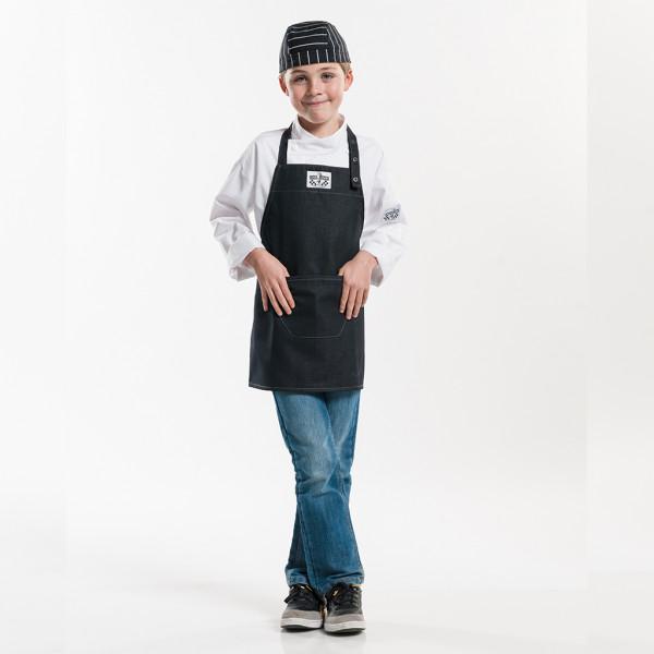 Children's apron Black Denim Chaud Devant®