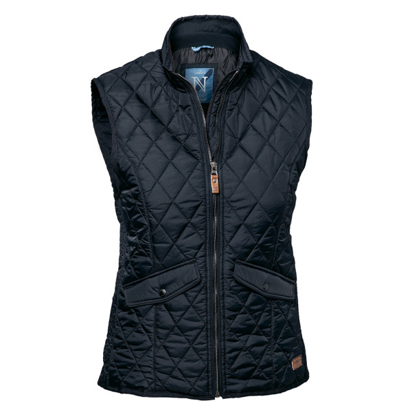 Ladies quilted vest Camden Midnight Blue Nimbus®