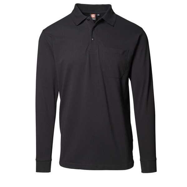 Herren Arbeits Poloshirt Langarm mit Brusttasche ID Identity®