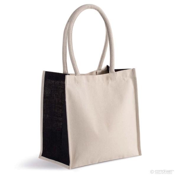 Shoppingtasche aus Baumwoll-Jute KiMood®