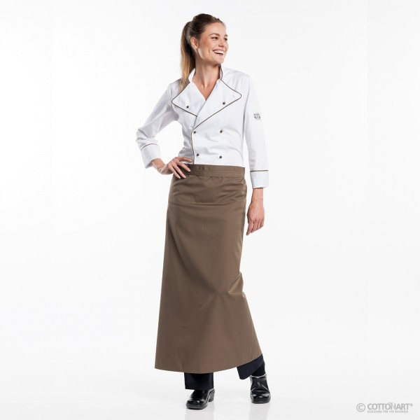 Bistro apron long 100 Dove Chaud Devant®