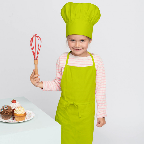 Children's apron & chef's hat in the Kariban® set