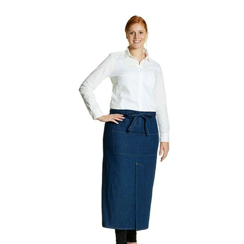 Schlitzschürze Jeans Denim Link® | bedrucken, besticken, bedrucken lassen, besticken lassen, mit Logo |