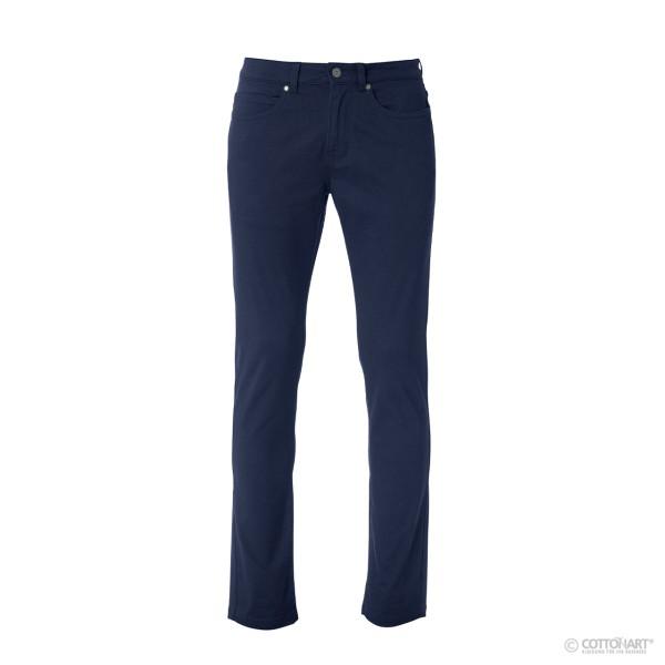 Herren Stretch-Hose mit 5 Taschen aus Baumwoll-Twill Clique®