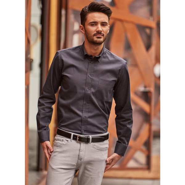 Twill Hemd Langarm Regular Fit Russell®