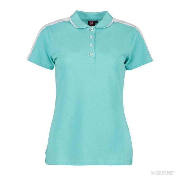 Damen Poloshirt mit Kontrasband ID Identity®