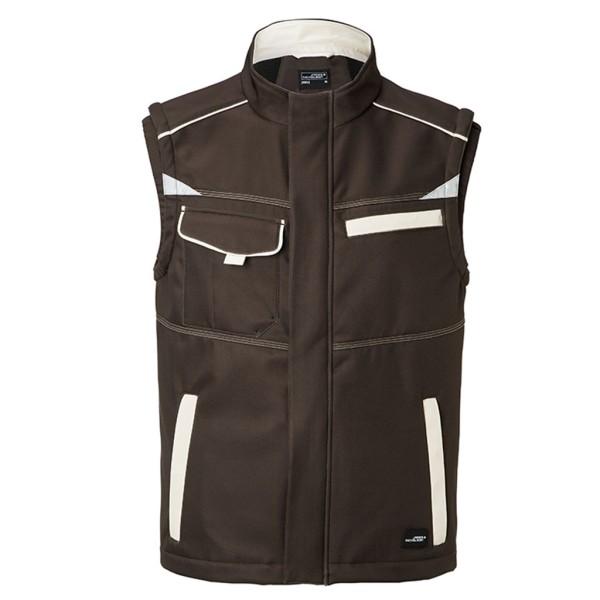 Unisex Softshell Workwear Weste James & Nicholson®