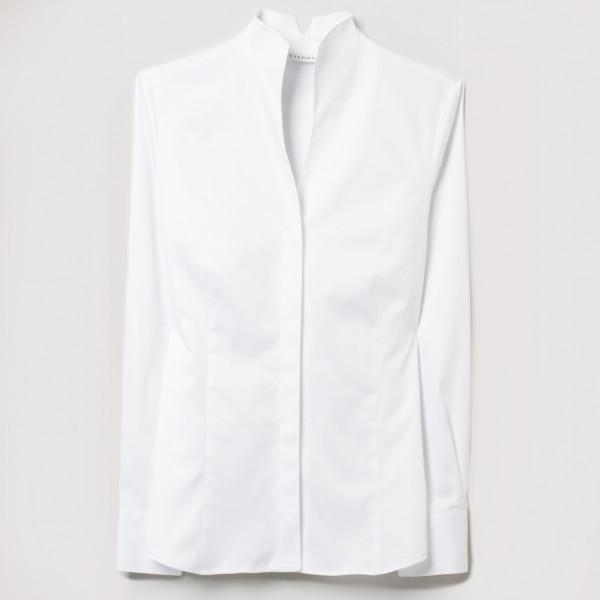 Stehkragen Satinbindung Bluse Modern Classic Eterna®