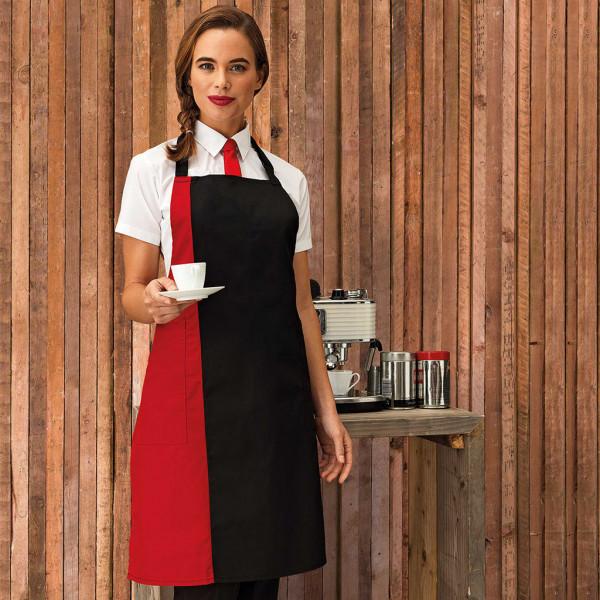 Bib apron with contrasting colours Premier®