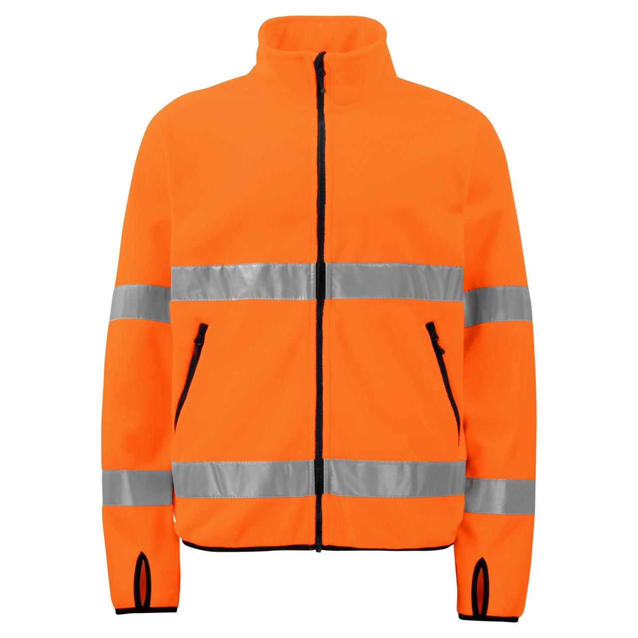 Warnschutz Sicherheits-Fleecejacke Projob® | bedrucken, besticken, bedrucken lassen, besticken lassen, mit Logo |