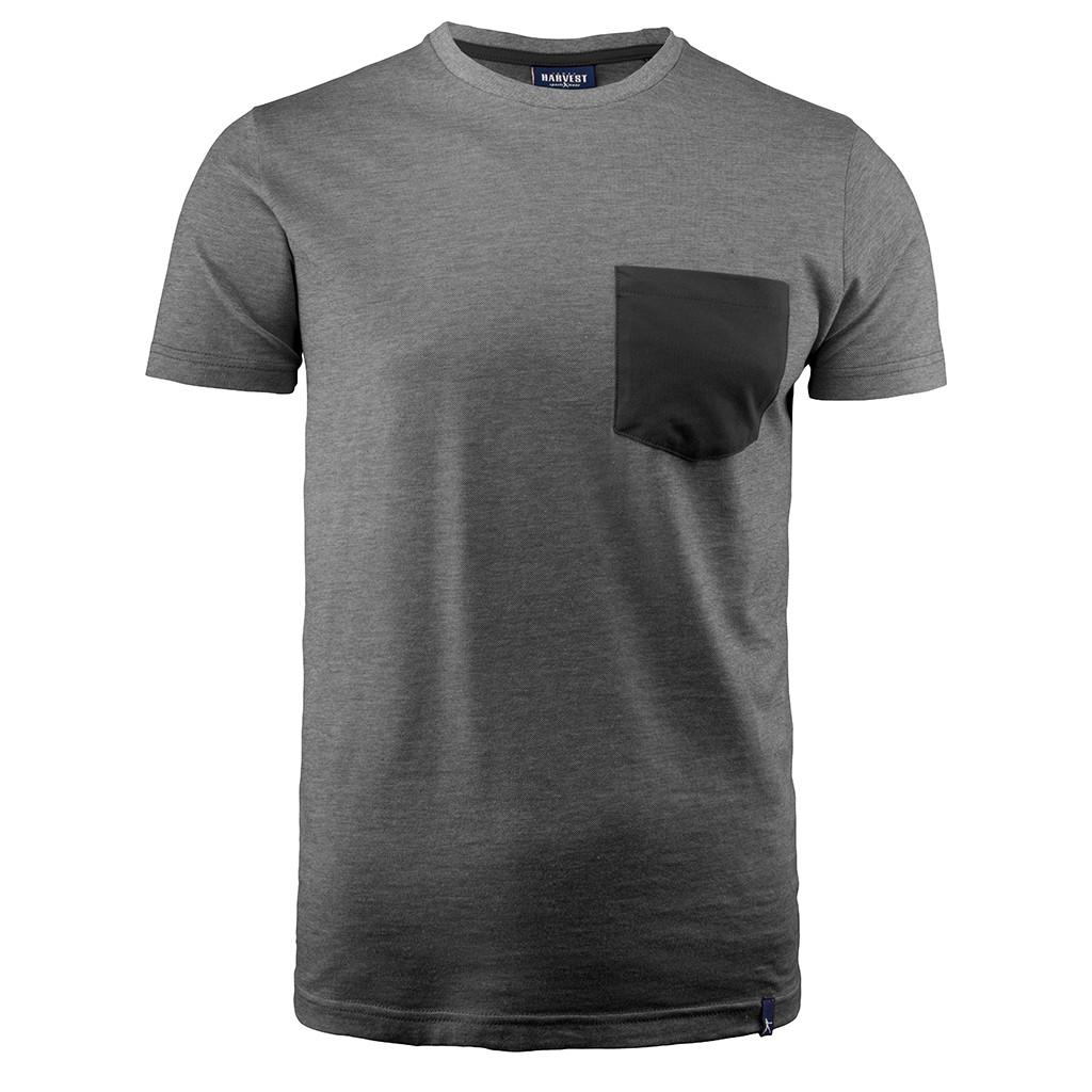 T-Shirt mit Brusttasche Portwillow James Harvest®   bedrucken, besticken, bedrucken lassen, besticken lassen, mit Logo  
