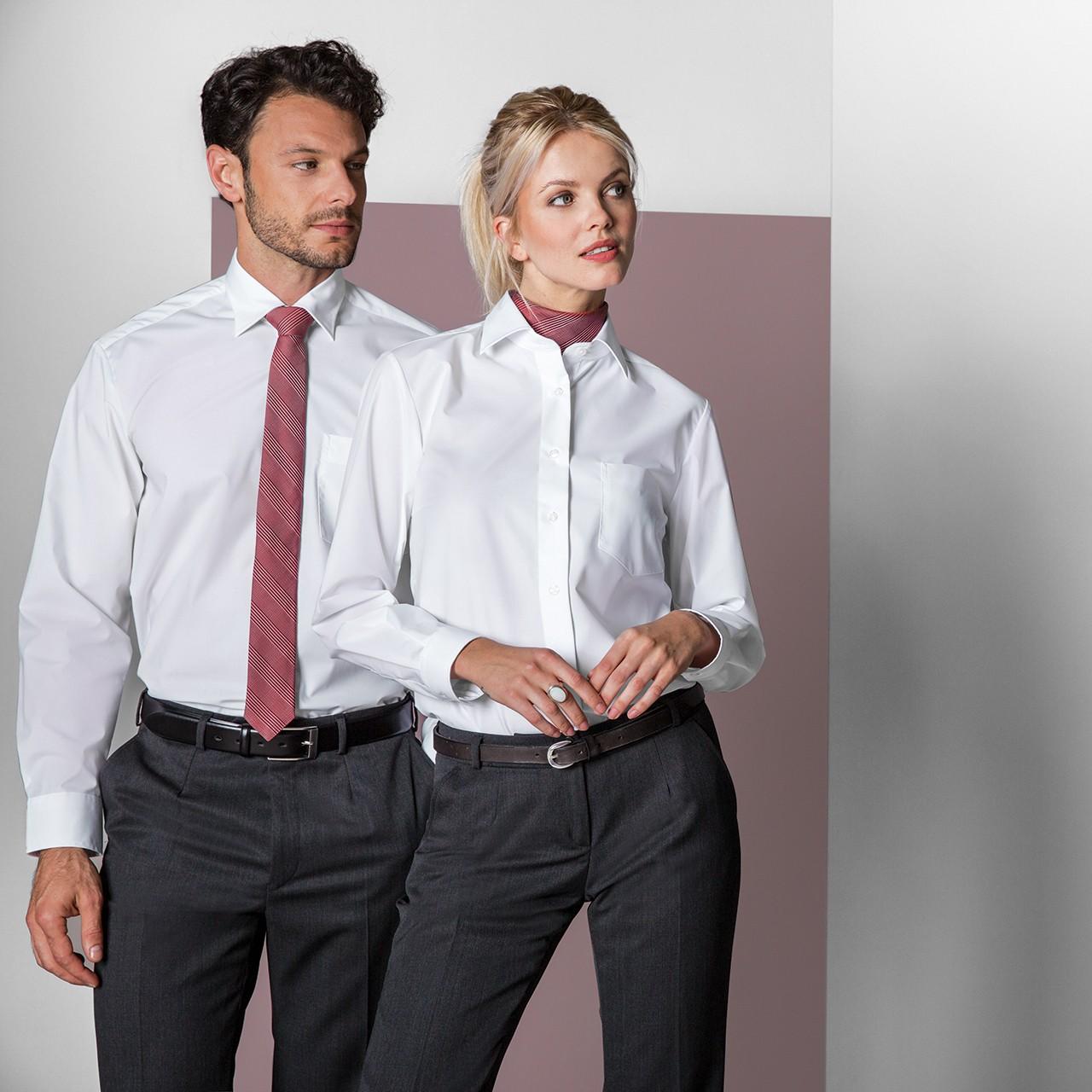 Basic Bluse Langarm Comfort Fit Weiß Greiff®   bedrucken, besticken, bedrucken lassen, besticken lassen, mit Logo  