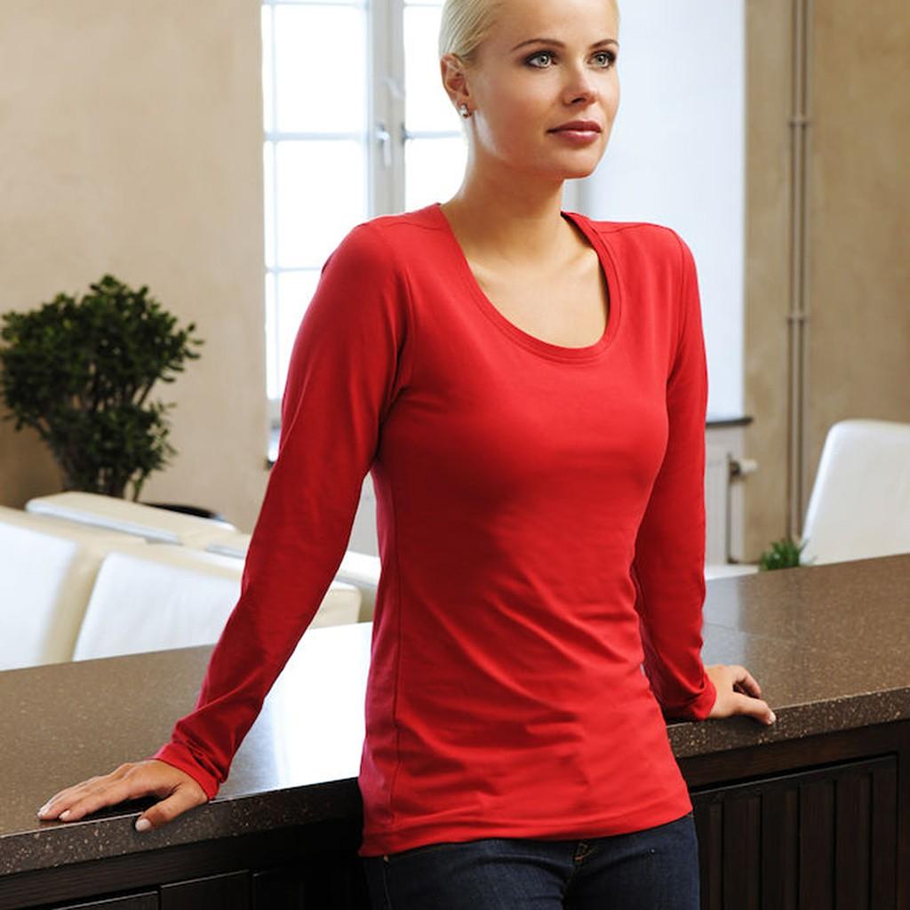 f5e21a3ca379a3 Damen Stretch-Shirt Langarm Carolina Clique®