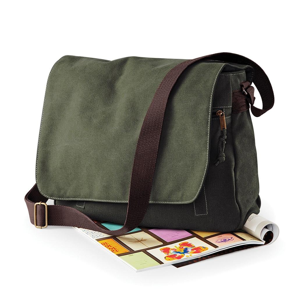 Messenger Tasche Vintage Canvas Despatch Bag Quadra® | bedrucken, besticken, bedrucken lassen, besticken lassen, mit Logo |