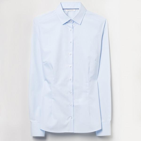 Bluse Fitted Cut Popeline Perfect Line Eterna® bedrucken und besticken